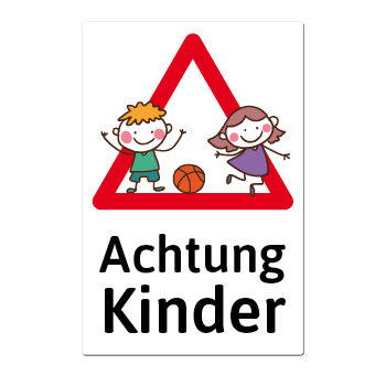 1046 blechschild warnschild achtung kinder. Black Bedroom Furniture Sets. Home Design Ideas