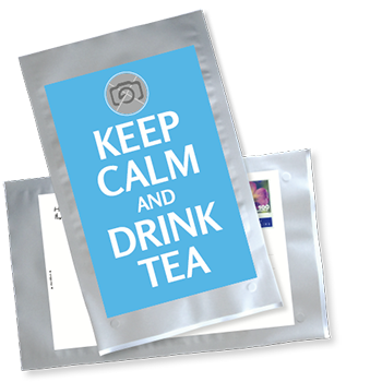 1034_Tee-Postkarte | Keep calm and drink tea - mit eigenem Foto