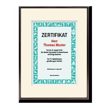 1017_Urkunde   Sportler-Zertifikat grün