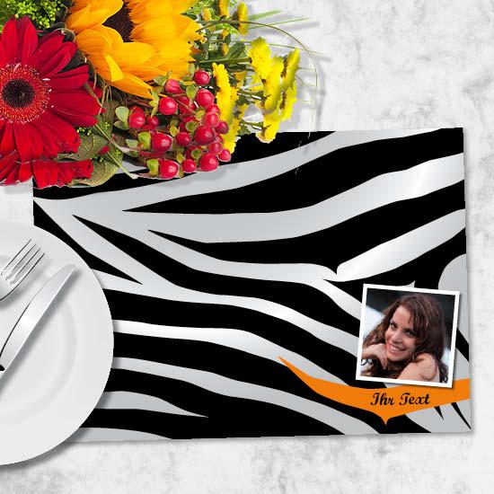 Tischset galerie parisienne : Foto tischset zebra