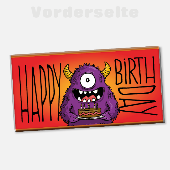 Foto-Schokolade 1136 | Happy-Monster-Birthday