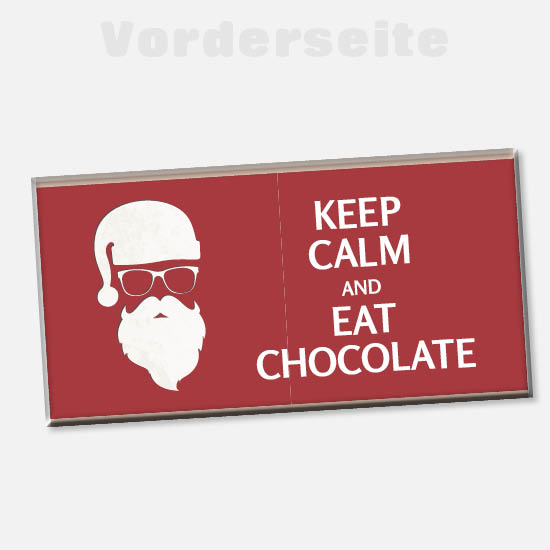 Weihnachts Foto-Schokolade 1140 | Keep Calm and eat Chocolate