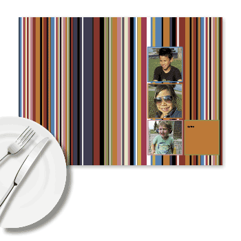 foto tischset farbige streifen. Black Bedroom Furniture Sets. Home Design Ideas