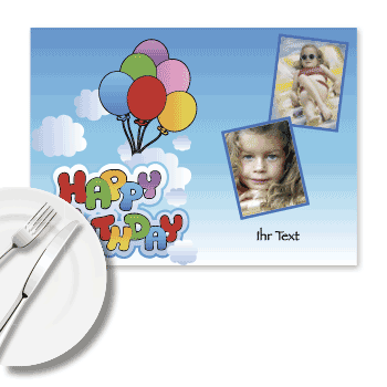 Foto-Tischset Happy Birthday Kids