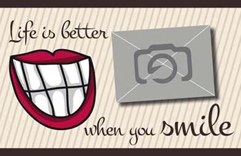 1001_Tee-Postkarte | Life is better when you smile