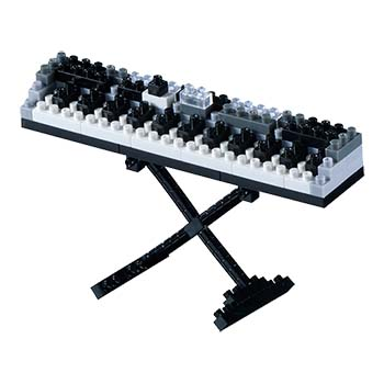 BRIXIES Mini-Bausatz Keyboard, 100 Bausteine, Level 1